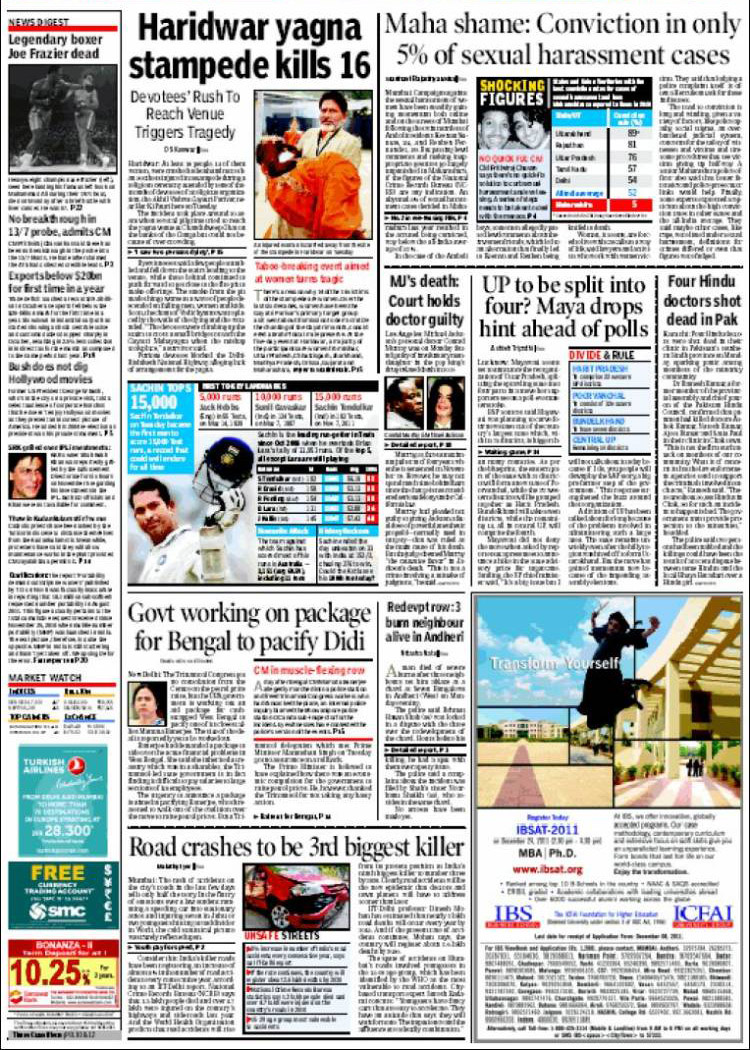 Times of India Newspaper Ad Booking Agency in Delhi/Noida
